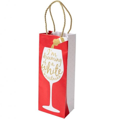 A photo of the Wine Christmas Wine & Bottle Gift Bag product