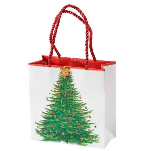 A photo of the Glittering Tree Small Square Gift Bag product