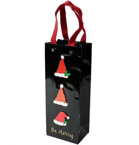 A photo of the Be Merry Wine & Bottle Gift Bag product