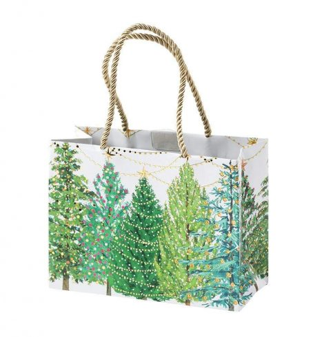 A photo of the Christmas Trees with Lights Small Gift Bag product