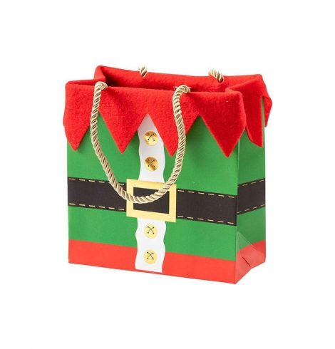 A photo of the Elf Costume Small Square Gift Bag product