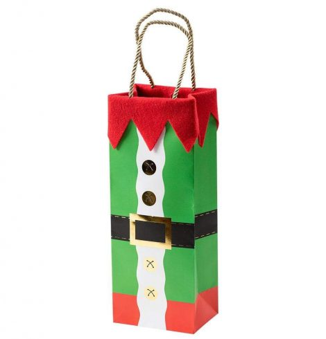 A photo of the Elf Costume Wine & Bottle Gift Bag product