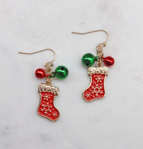 A photo of the Christmas Stockings Earrings product