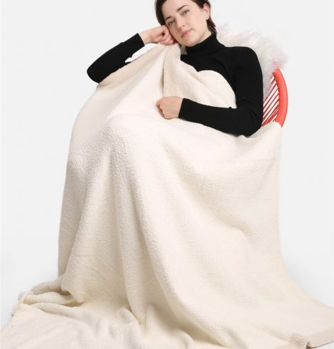 A photo of the Solid Comfy Luxe Blanket product