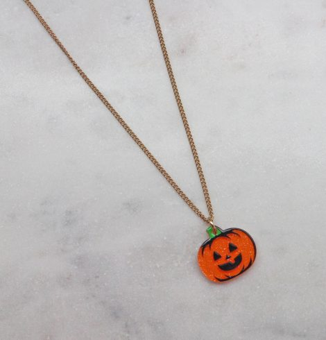 A photo of the Jack-O-Lantern Necklace product