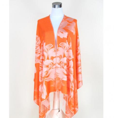 A photo of the Orange Rose Pashmina product