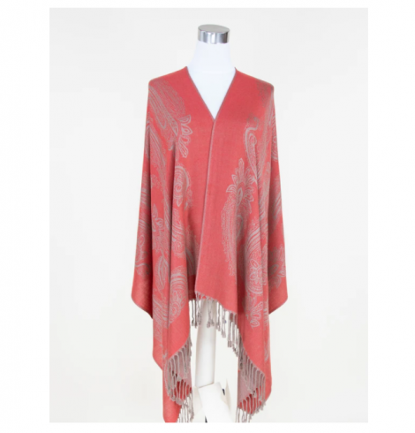 A photo of the Red Paisley Pashmina product