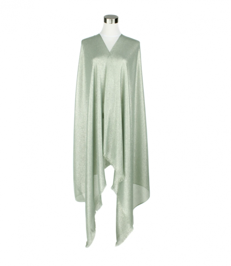 A photo of the Silk Metallic Pashmina In Olive product
