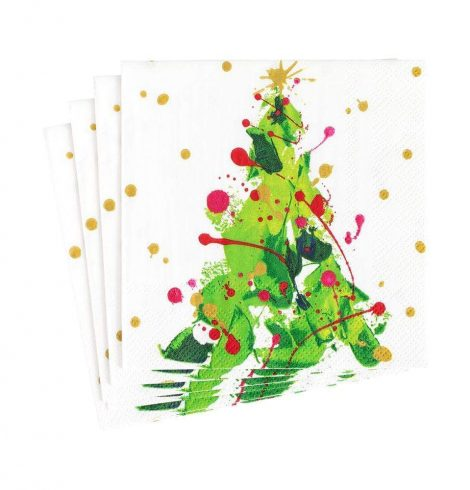 A photo of the Splatter Tree Cocktail Napkins product