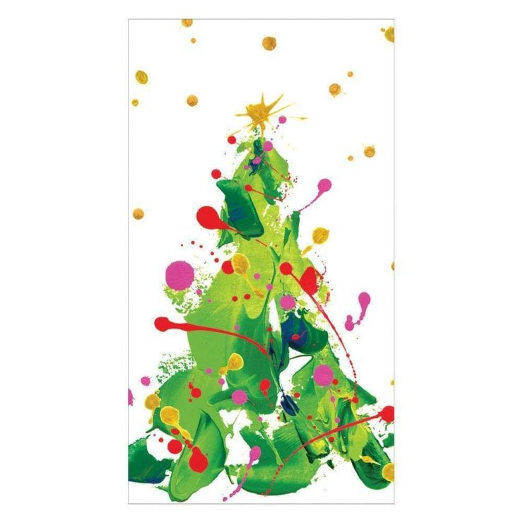 A photo of the Splatter Tree Guest Towel Napkins product