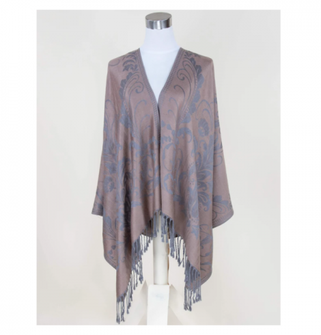 A photo of the Taupe Floral Pashmina product