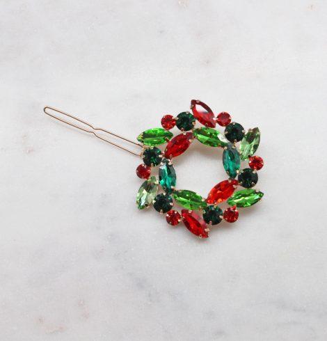 A photo of the Rhinestone Wreath Hair Pin product