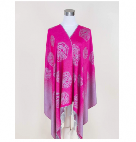 A photo of the Rosie Pashmina In Fuchsia product