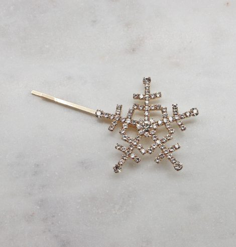 A photo of the Snowflake Hair Pin In Gold product