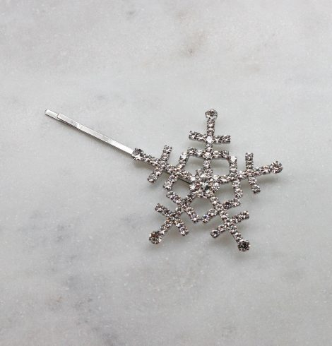 A photo of the Snowflake Hair Pin In Silver product