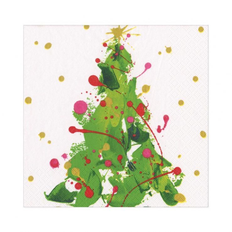 A photo of the Splatter Tree Luncheon Napkins product