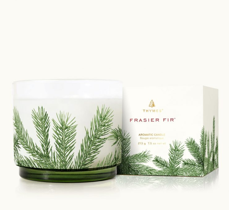 A photo of the Frasier Fir Heritage Small Pine Needle Luminary product
